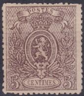 Belgie  .  OBP  .   25   (2 Scans)    .   *    .   Ongebruikt Met Gom   .   / .   Neuf Avec Gomme - 1866-1867 Coat Of Arms