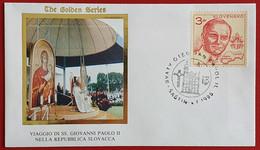 SLOVENSKO SLOVAKIA 1995 SASTIN JAN PAVOL II POPE JOHN PAUL II VISIT - Cartas