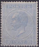 Belgie  .  OBP  .   18A   (2 Scans)   .  (*)     .   Geen Gom   .   / .   Pas De Gomme - 1865-1866 Linksprofil