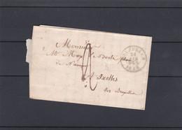 Lettre NON AFFRANCHIE Taxe  Lac 24 04 1856 - Non Classificati