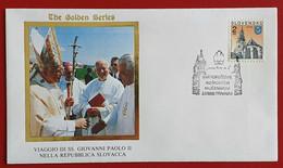 SLOVENSKO SLOVAKIA 1995 TRNAVA JAN PAVOL II POPE JOHN PAUL II VISIT - Cartas