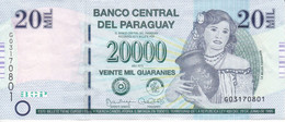 BILLETE DE PARAGUAY DE 20000 GUARANIES DEL AÑO 2015 CALIDAD EBC (XF) (BANK NOTE) - Paraguay