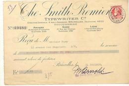FAC034 -België  Factuur THE SMITH PREMIER TYPERITER  C°  Van 1911 Te ANVERS GAND LIEGE - 1900 – 1949
