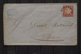 Deutschland 3 Kreuzer Grossem Brutschild From Bingen To Speyer - Briefe U. Dokumente