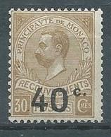 Monaco Timbres-taxe YT N°12 Prince Albert 1° Surchargé Neuf/charnière * - Impuesto