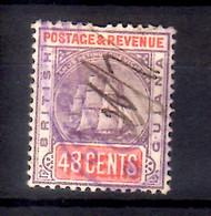 1889 British Guiana Standard Issue With Fregate Sandbach HIgh Value Used Mi  91 - British Guiana (...-1966)