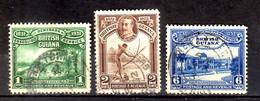 1931 British Guiana 100 Years Of Additions Of Demerara, Berbice And Essequibo To Br. Guiana Used MI 151, 152, 154 - British Guiana (...-1966)