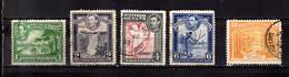 1938  British Guiana King Georg VI Landscapes Standart Used MI 176-179 +182 - British Guiana (...-1966)