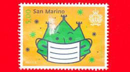 SAN MARINO - Usato - 2020 - Pro Istituto Per La Sicurezza Sociale Di San Marino - Monte Titano Con Mascherina - 5.00 - Usados