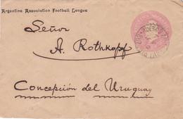 ARGENTINA. ARGENTINE ASSOCIATION FOOTBALL LEAGUE, FUTBOL. ENTIER ENVELOPPE, CIRCULEE ANNEE 1910.- LILHU - Famous Clubs