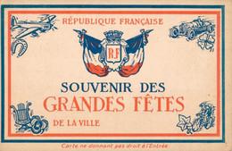 H0504 - SOUVENIR DES GRANDES FETES DE LA VILLE - République Française - Greetings From...