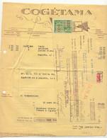 FAC037 -België  Factuur  COGETAMA Tabak  GENT  Uit 1939 Met Takszegels - 1900 – 1949
