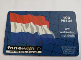 MEXICO $ 100 PESOS   PREPAID WORLD FONE WORLD   /  FLAGS      ** 5153** - Mexico