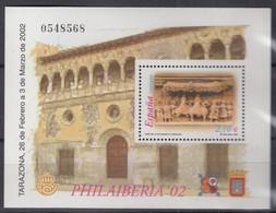 SPANIEN  Block 105, Postfrisch **, Spanisch-portugiesische Briefmarkenausstellung PHILAIBERIA, Tarazona, 2002 - Blocs & Hojas