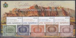SAN MARINO  Block 30, Postfrisch **, 125 Jahre Briefmarken Von San Marino, 2002 - Hojas Bloque