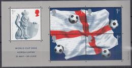 GROSSBRITANNIEN  Block 14, Postfrisch **, Fußball-Weltmeisterschaft, Japan Und Südkorea, 2002 - Blocks & Kleinbögen