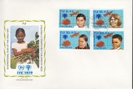 FIDSCHI  399-402, FDC, UNICEF, Internationales Jahr Des Kindes, 1979 - Fiji (1970-...)