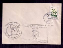 Argentina Enveloppe Commémorative Armée De L'air Argentine 1984 - Fossils