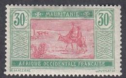 Mauritania, Scott #30, Mint Hinged, Crossing Desert, Issued 1913 - Neufs