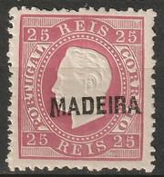 Madeira 1871 Sc 23  MLH* Perf 12.5 - Madeira