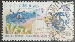INDIA 2005 International Year Of Physics 2005. USADO - USED. - Used Stamps