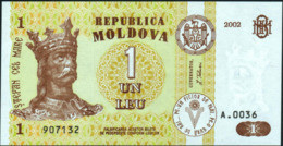 ♛ MOLDAVIA - MOLDOVA - 1 Leu 2002 {Banca Naţională A Moldovei} UNC P.8 E - Moldova