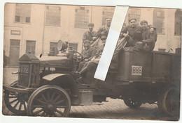 ARMEE BELGE -  PHOTO CARTE - TRANSPORT DES TANKISTES - Manoeuvres