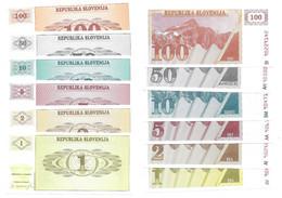 Slovénie Slovenia Slovenia 1 + 2 + 5 + 10 + 50 + 100 Tolar 1990 - UNC / NEUF - Slovenia