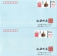 China 2021 International Customs Day ATM Label Stamps Commemorative Covers(2v) Rare - Sobres