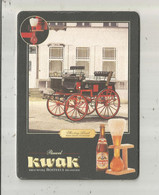 Cp, Publicité , BROUWERIJ BOSTEELS BRASSERIE , Sous Bock , Bière KWAK , Vierge , 2 Scans - Werbepostkarten