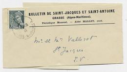 MERCURE 2C SEUL BANDE COMPLETE GRASSE 11.10.1941 POUR GRASSE AU TARIF - 1938-42 Mercurio