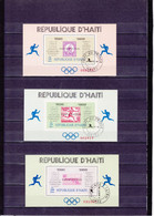 VAINQUEURS DES MARATHONS OLYMPIQUES  /OBLITERE/ 4 FEUILLETS  / N° 26/27A YVERT ET TELLIER 1968 - Haiti