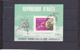 BLOCS  APOLLON 11 1G75  VERT/POLYCHROME NEUF **N°29 YVERT ET TELLIER 1969 - Haiti