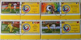 ROMANIA 2016: EUROPEAN FOOTBALL CUP, Used Set 4 Stamps + Vignettes - Registered Shipping! Envoi Enregistre! - Usati