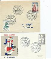 FRANCE - Cachet Temporaire FOIRE DE PARIS 1959 Lot De 2 - Gedenkstempel