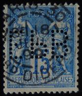 -Sage N°90 Type II  Ob  ( CAD ) PARIS BARD DIDEROT ( Bur 30 ) Perforé  EPB 1899. - 1876-1898 Sage (Tipo II)