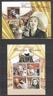 BC902 2011 S. TOME E PRINCIPE FAMOUS PEOPLE MARILYN MONROE 85TH ANNIVERSARY 1KB+1BL MNH - Actors