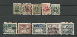 Poland East Silesia 1920 Overprint On Polish Stamps  Y.T.  35/44 * - Silesia (Lower And Upper)