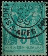 -Sage N°75 Type II  Ob  ( CAD )  JOURNAUX.1889 ARCIS-S-AUBE. ( Rare ) - 1876-1898 Sage (Tipo II)