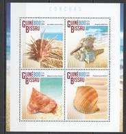 ST1141 2014 GUINE GUINEA-BISSAU MARINE LIFE SEASHELLS 1KB MNH - Schelpen