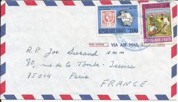 Haïti Enveloppe Par Avion De Port Au Prince Pour La France 1987  N7 - Haiti