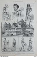 Le Pavillon Des Colonies Francaises à L'exposition D'Anvers - Négresse Du Dakar - Page Originale 1885 - Documents Historiques