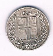25 AURAR 1954  IJSLAND /2884// - Iceland