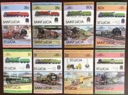 St Lucia 1983 Railway Trains MNH - St.Lucia (1979-...)