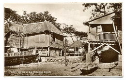 RC 20717 PHILIPPINES NATIVE HOUSES IN THE PHILIPPINE ISLANDS REAL PHOTO POSTCARD - Philippines