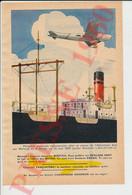 Aviation Traversée Atlantique Sud Par Mermoz  Avion Couzinet Arc-en-Ciel + Publicité Cassoulet Cassegrain 249/3 - Unclassified