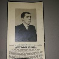 Bidprentje Lauwers Louis ° Turnhout 1917 Weggevoerde Overl Rode Kruishospitaal Verviers 1945 - Todesanzeige