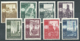 Autriche YT N°666/673 Foire De Printemps De Vienne 1947 Neuf/charnière * - 1945-60 Unused Stamps