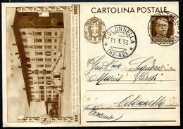 Z2689 ITALIA REGNO 1933 Cartolina Postale Regia Scuola Superiore Di Pisa, Fil. C84, Viaggiata Da Volterra Per Colonnella - Stamped Stationery