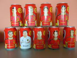 België Belgique Jupiler Bier Bière Voetbal Foot WK 2014 Mondiale 9 Blikjes Leeg Cannettes Vides Spelers Joueurs - Cans